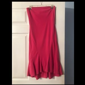 Hot pink small cache strapless dress